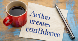 action creates confidence