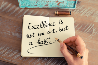 Excellence is not an act note