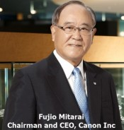 Fujio Mitaral Chairman and CEO, Canon